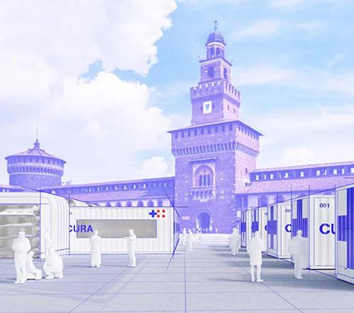 Italští architekti navrhli pohotovostní nemocnici z dopravních kontejnerů