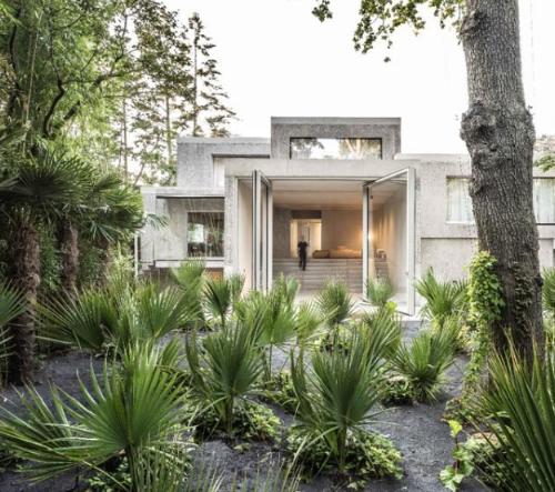 Studio J. Mayer H. navrhlo v Německu vilu z betonových krychlí