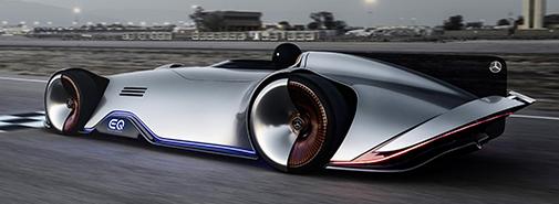 Mercedes-Benz představil elektrický stříbrný šíp Vision EQ Silver Arrow