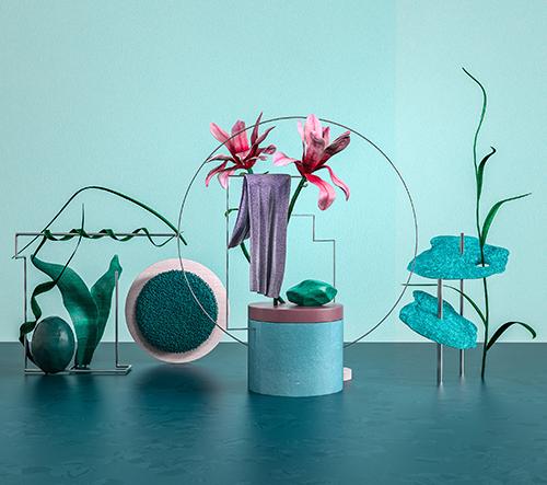Geometrie a barva se ideálně doplňují v nádherných kompozicích rostlin od studia Nastplas