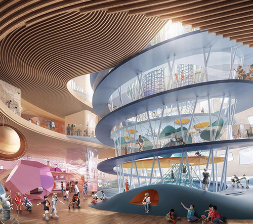 Snøhetta postaví Dětské muzeum v El Pasu plné hřišť a alternativního vzdělávání