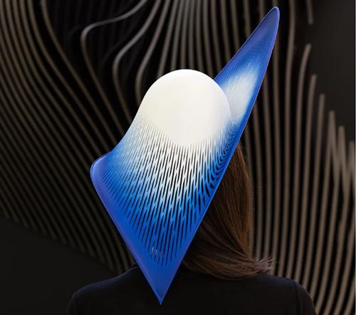 Studio Zahy Hadid navrhlo 3D tištěný klobouk jako poctu newyorskému parku High Line