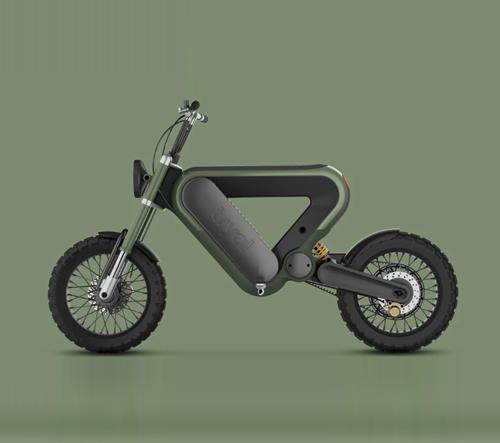 Návrh motorky trojúhelníkového tvaru od Erika Askina žne designové úspěchy