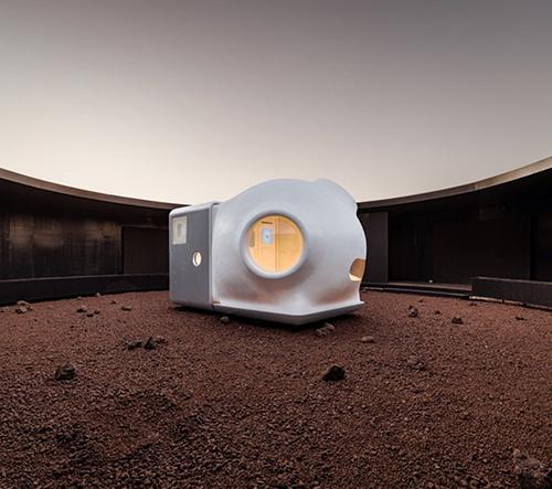Open Architecture navrhli rozkládací obytný modul pro bydlení na Marsu