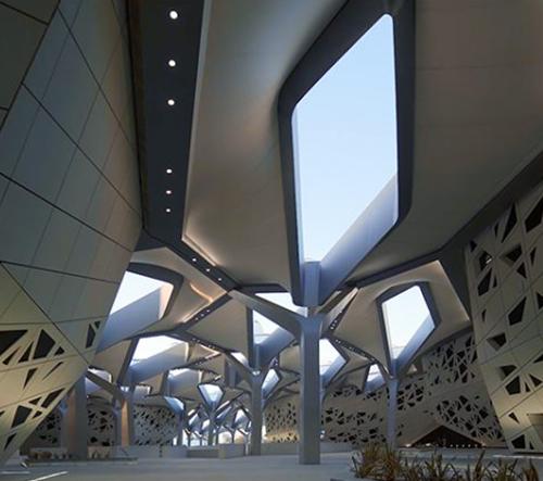 Zaha Hadid Architects představili svou novou stavbu výzkumného centra v Saúdské Arábii