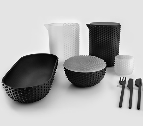 Joe Doucet navrhl minimalistické multifunkční 3D tištěné nádobí