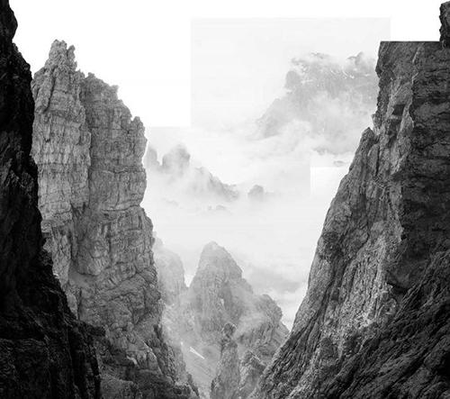 Fernando Maselli vytváří snové koláže hor