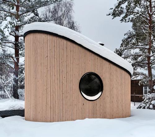 FLEXSE je malý kompaktní dům kompletně postavený z recyklovaných materiálů