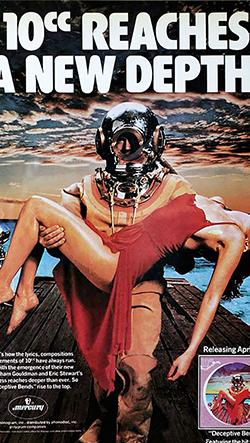 Reklamní hudební plakáty sedmdesátých let