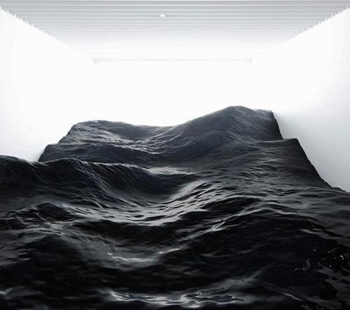 Japonské studio Mé navrhlo instalaci inspirovanou bouřlivou povahou oceánských vln