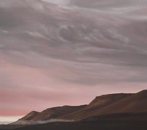 Henrietta Harris maluje krásy melancholické přírody Islandu