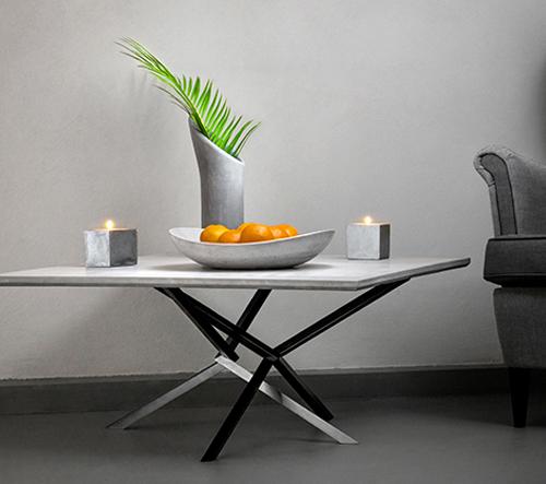 Delast Design vyrábí nejen z betonu stoly a dekorace