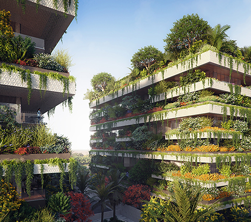 Stefano Boeri navrhl v Egyptě luxusní bydlení s vertikální zahradou