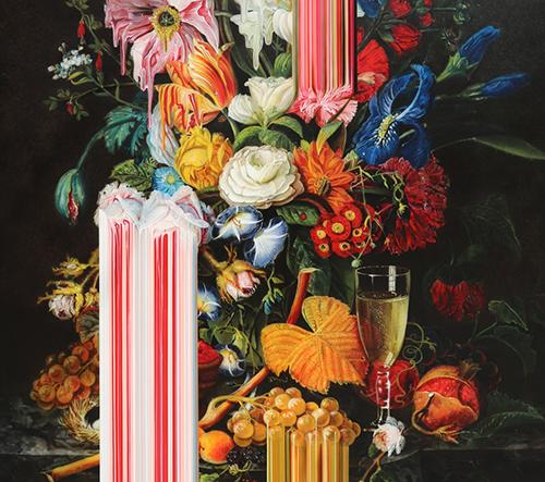 Olan Ventura vytváří klasické malby s moderním efektem barevných vad