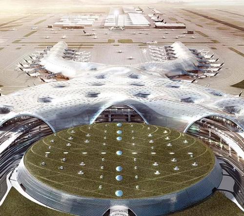 Foster + Partners a FR-EE studio pokračují ve stavbě mexického letiště i navzdory problémům