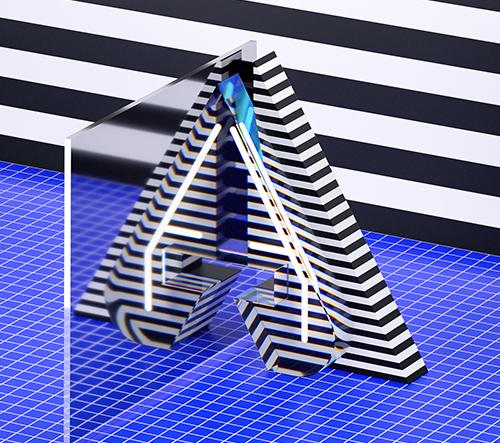 Serafim Mendes tvoří úžasnou 3D typografii