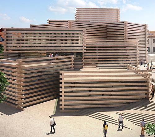 Kengo Kuma odhaluje návrh pro muzeum umění v Turecku