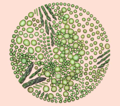 Kristen Meyer vytváří dechberoucí geometrické puzzle z jídla