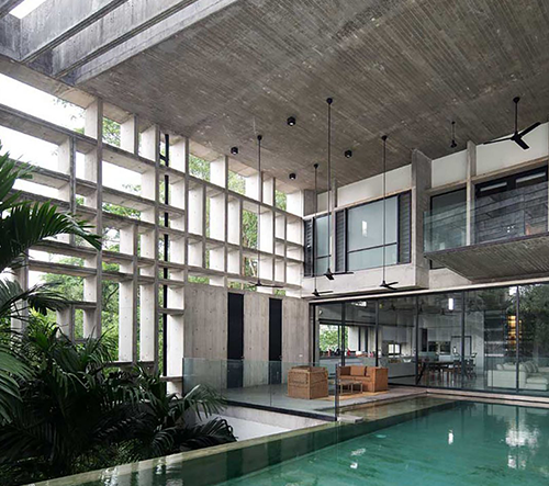 WHBC Architects navrhli v malajsijském Kuala Lumpur skvostný betonový dům