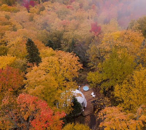 Dômes Charlevoix je luxusní eko-resort v kanadské přírodě
