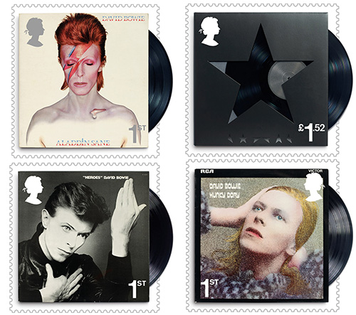 Britská pošta vzdá hold Davidu Bowiemu známkami z jeho album coverů