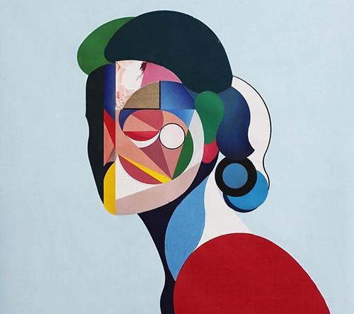 Umělec Ryan Hewett vytváří moderní kubistické portréty