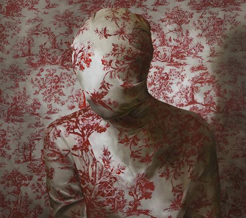 Markus Åkesson zahaluje melancholické postavy na svých obrazech do starožitných textilií