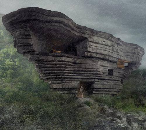 Open Architecture staví v Číně koncertní síň s tvarem obřího balvanu