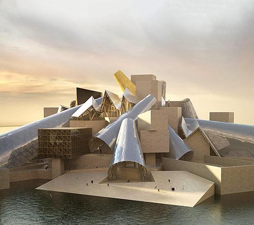 Začíná výstavba Guggenheim Abu Dhabi od architekta Franka Gehryho