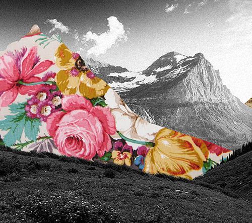 Guy Catling tvoří okouzlující černobílé obrázky s barevnými kolážemi