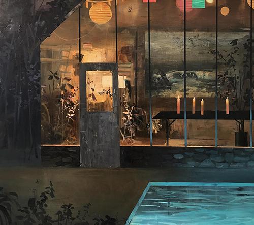Umělec Jeremy Miranda zobrazuje scény severovýchodu v jeho vzácných olejomalbách