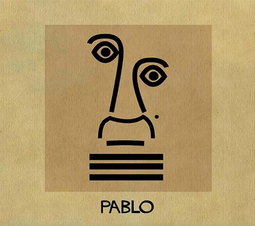 Federico Babina vytváří animované portréty slavných umělců v jejich charakteristickém stylu