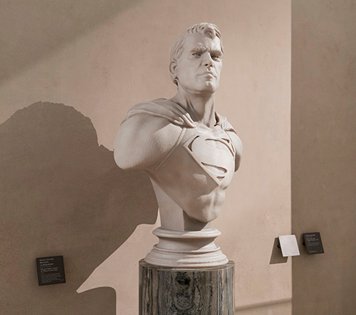 Umělec Leo Caillard vytváří sochy superhrdinů