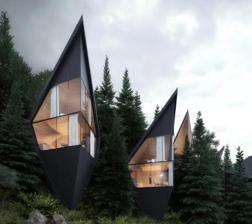 Peter Pichler navrhl dechberoucí ubytování v korunách stromů italských Dolomitů