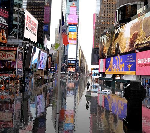 Šokující krátký film ukazuje město New York po klimatické katastrofě