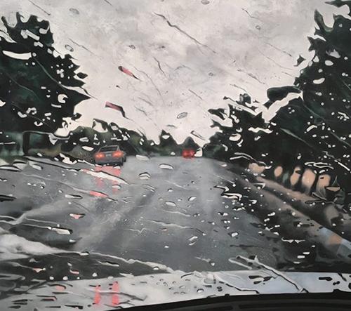 Iránská umělkyně Shabnam Yousefian překresluje fotografie v sérií maleb Reflection