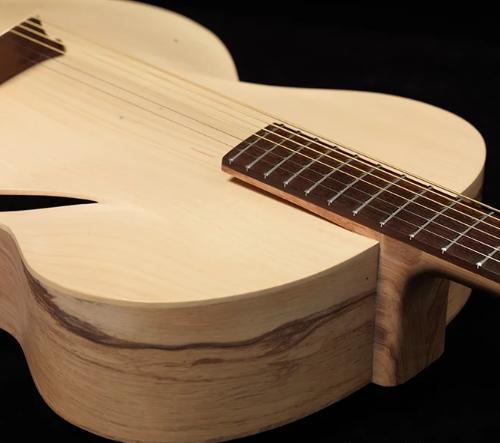 Maxwell redesignoval tradiční kytaru za použití digitální technologie a kompozitních materiálů