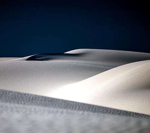 Navid Baraty fotí bílé snové záběry Nového Mexika