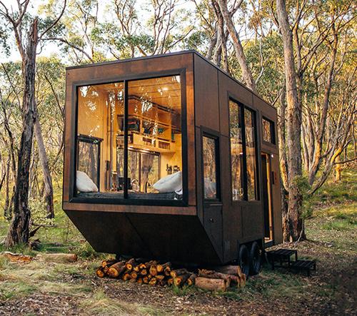 Cabn je miniaturní bydlení na kolech navržené pro relaxaci v přírodě