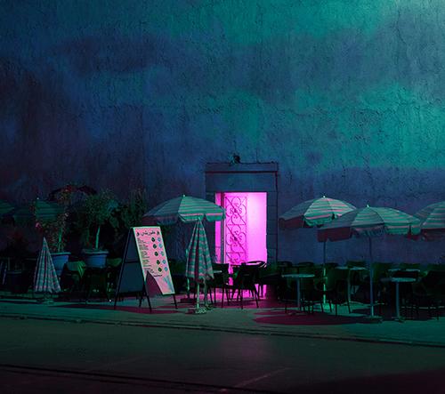 Al Mefer nafotil dechberoucí foto nočního života v Maroku