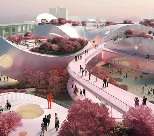 MVRDV postaví na Tchaj-wanu růžové Taoyuan Museum of Art