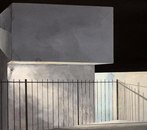 Holly Elander zahaluje město do temnoty ve svých malbách
