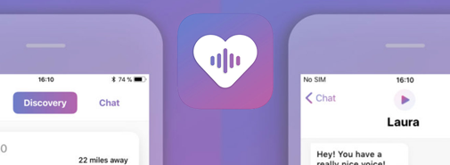 Tato aplikace pro seznamování umožňuje vybrat partnera na základě hlasu