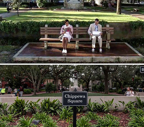 Tento účet na Instagramu zachycuje místa slavných filmových scén