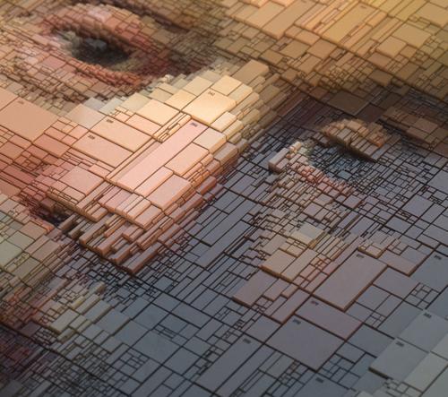 Dimitris Ladopoulos mění slavné portréty pomocí 3D tisku