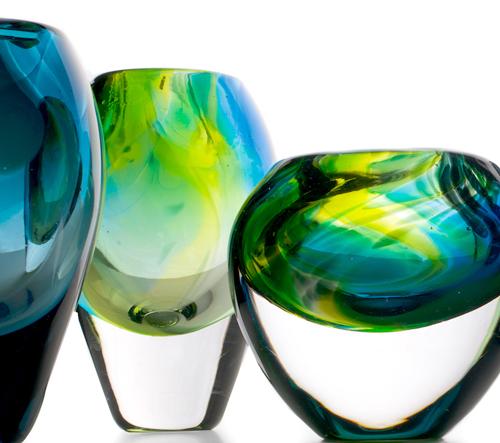 Sini Majuri kombinuje 3D design s foukáním skla