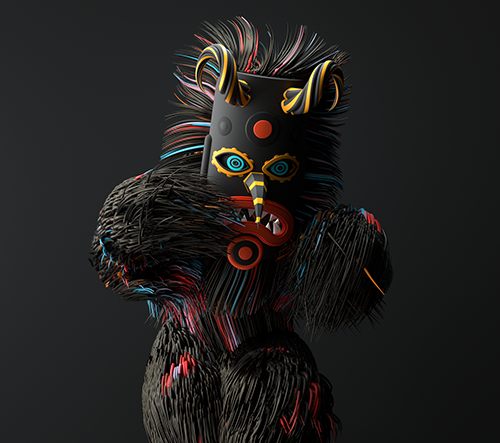 Miroslav Dimitrov kreslí v 3D tradiční masky evropských národů
