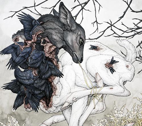 Lauren Marx vytváří tajuplné mytologické obrazy zvířat