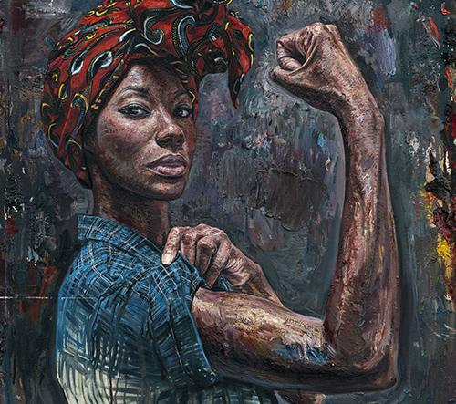 Tim Okamura prezentuje ve svých dílech sílu a impozantnost Afroameričanek
