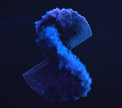 """Besjan Sertolli vytvořil video projekt """"Volume"""", v kterém pomíjivé geometrické tvary mizí v kouři"""